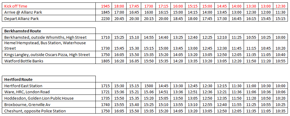 sarries timetable 17 18 image